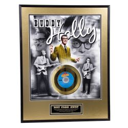 "LP placcato dorato - Buddy Holly ""Not Fade Away"""