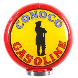 Globo di pompa benzina Conoco Gasoline red