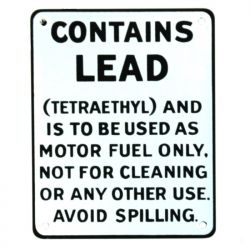 Targhe di latta Contains Lead