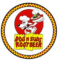 Targhe di latta Dog 'n Suds Root Beer