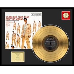 "LP placcato dorato - Elvis Presley ""50 Million Fans"""