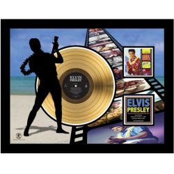 "LP placcato dorato - Elvis Presley ""Blue Hawaï Etched"""