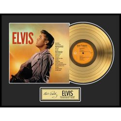 "LP placcato dorato - Elvis Presley ""Gold LP LE 2500"""