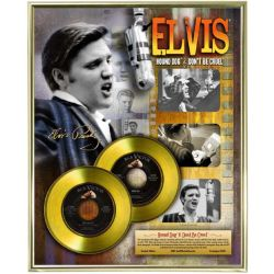"LP placcato dorato - Elvis Presley ""Hound Dog - Don't Be Cruel"""