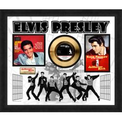 "LP placcato dorato - Elvis Presley ""Jailhouse Rock"""
