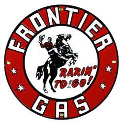 Targhe di latta Frontier Gas