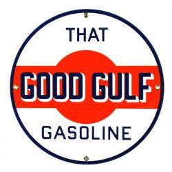 Targhe di latta Gulf Gasoline