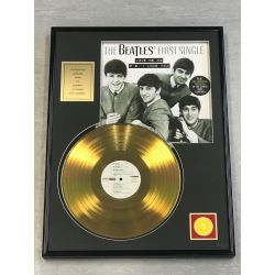 "LP placcato dorato - THE BEATLES ""FIRST SINGLE"""