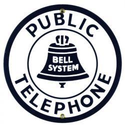 Targhe di latta Public Telephone