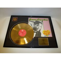 "LP placcato dorato - Sam Cooke ""What A Wonderful World"""