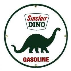 Targhe di latta Sinclair Dino