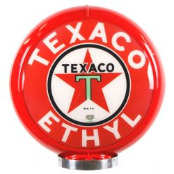 Globo di pompa benzina Texaco Ethyl Red