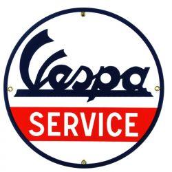 Targhe di latta Vespa Service