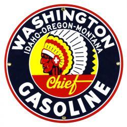 Targhe di latta Washington Gasoline