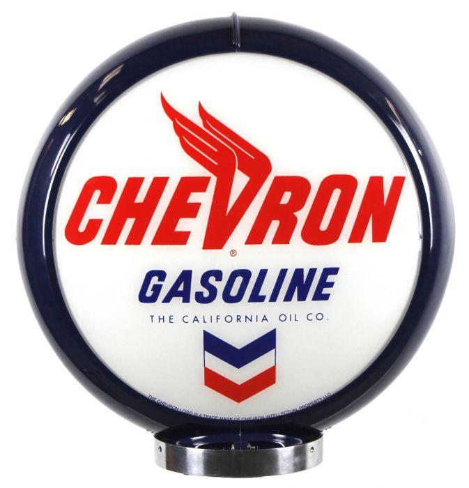 Globo di pompa benzina Chevron Gasoline