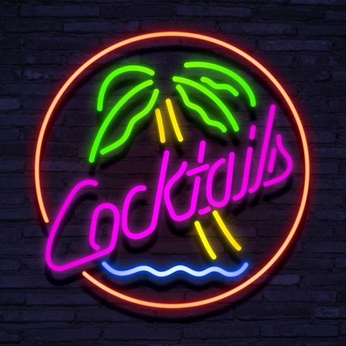 Neon Cocktail Palm Tree
