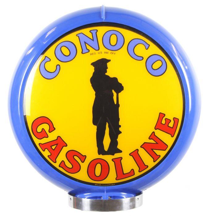 Globo di pompa benzina Conoco Gasoline Blue