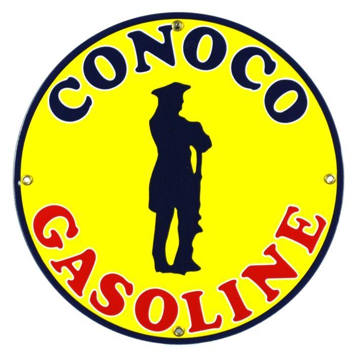 Targhe di latta Conoco Gasoline