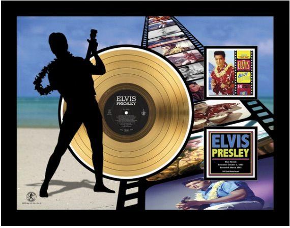 "LP placcato dorato - Elvis Presley ""Blue Hawaï Etched"""