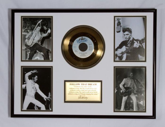 """LP placcato dorato - Elvis Presley """"Follow That Dream"""""""
