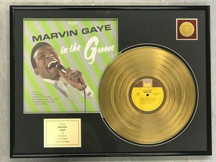 "LP placcato dorato - MARVIN GAYE  ""IN THE GROOVE"""