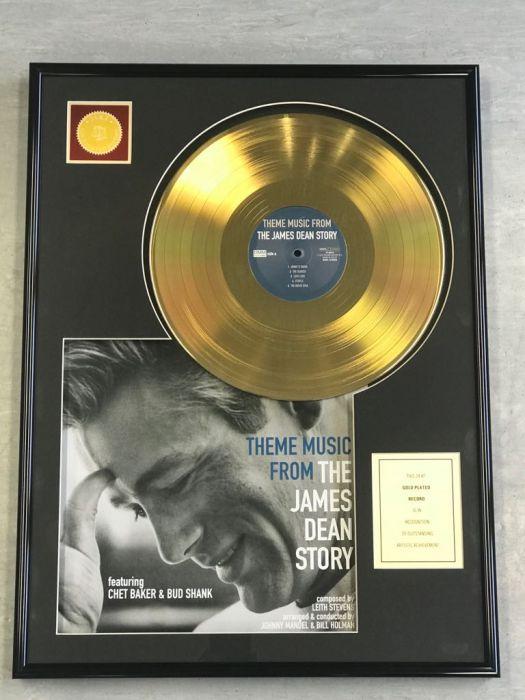 """LP placcato dorato - JAMES DEAN """"THE JAMES DEAN STORY"""""""