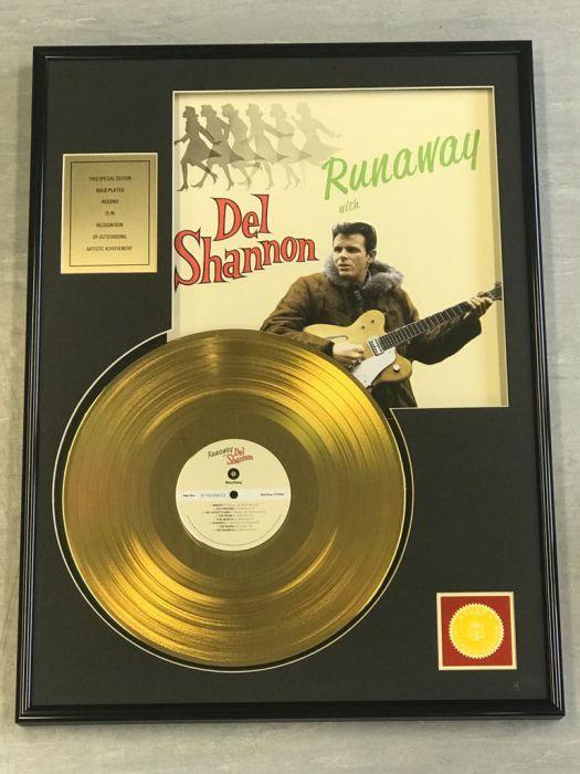 """LP placcato dorato - DEL SHANNON """"RUNAWAY"""""""