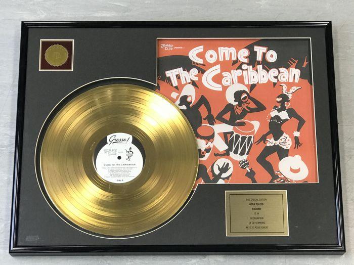 """LP placcato dorato - ZOMBIE CLUB """"COME TO THE CARIBBEAN"""""""