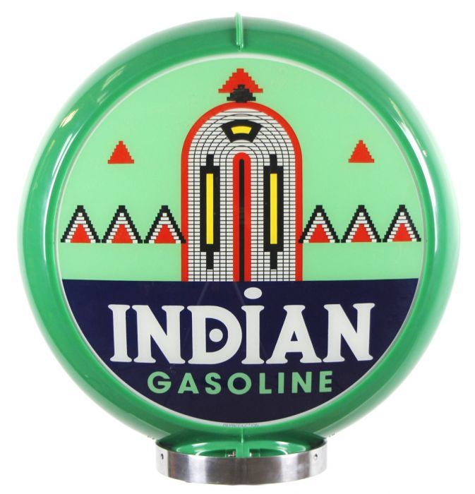 Globo di pompa benzina Indian Gasoline