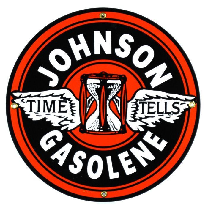 Targhe di latta Johnson Gasolene