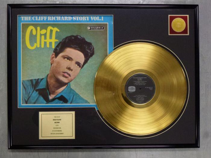 "LP placcato dorato - Cliff Richard ""THE CLIFF RICHARD STORY"""