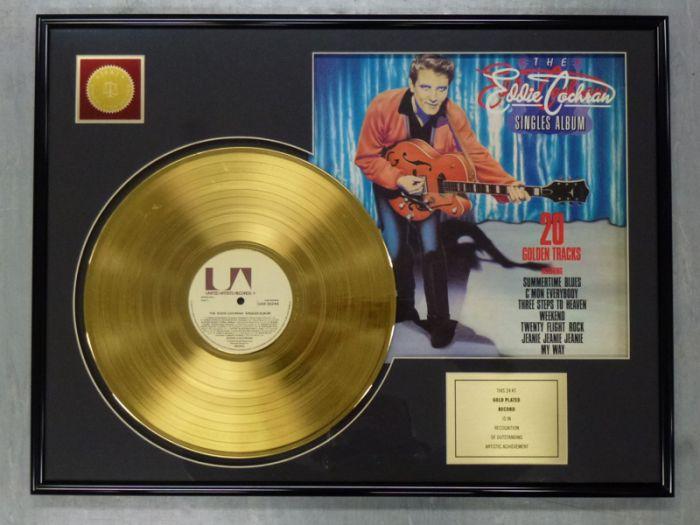 """LP placcato dorato - EDDIE COCHRAN """"20 GOLDEN TRACKS"""""""