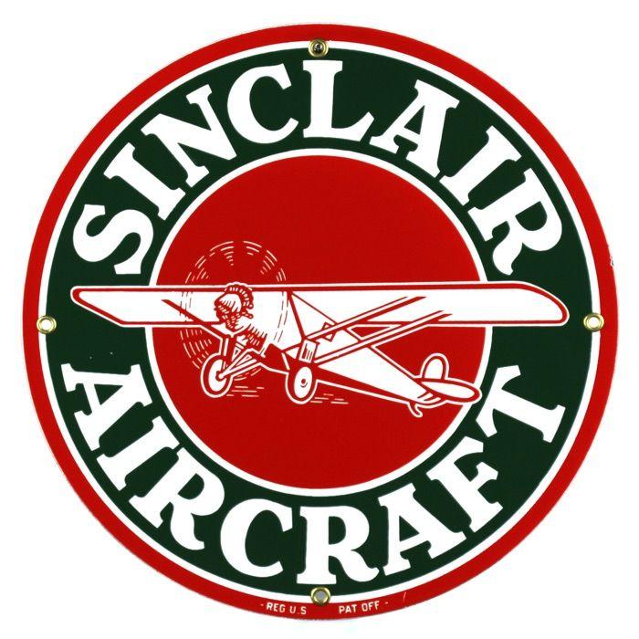 Targhe di latta Sinclair Aircraft