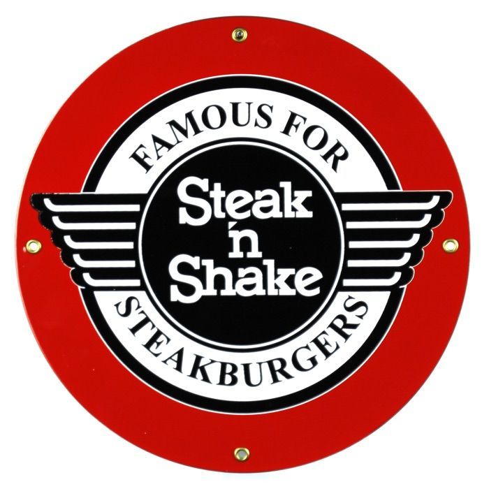 Targhe di latta Steak 'n Shake