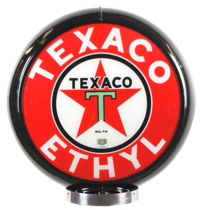 Globo di pompa benzina Texaco Ethyl Black