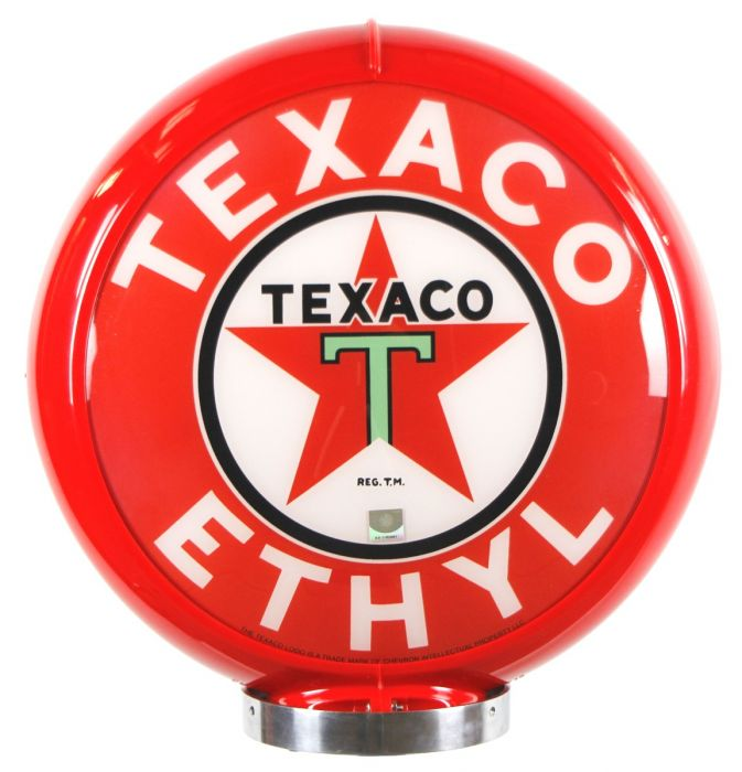 Globo di pompa benzina Texaco Ethyl Red