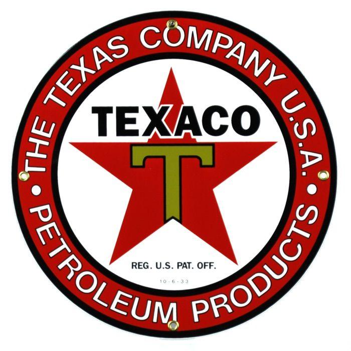 Targhe di latta The Texas Company